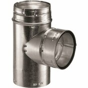 DURAVENT 4 IN. TYPE B GAS VENT TEE FOR CHIMNEY PIPE