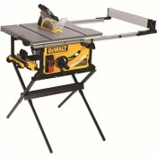 DEWALT 15 AMP CORDED 10 IN. JOBSITE TABLE SAW WITH SCISSOR STAND