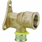 VIEGA PUREFLOW PRESS 90-DEGREE DROP EAR ELBOW 1/2 IN. X 1/2 IN. ZERO LEAD BRONZE