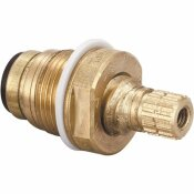 CENTRAL BRASS QUICK PRESSION QUARTER TURN COLD STEM FAUCETS IN BRASS
