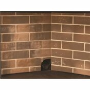PLEASANT HEARTH FIREBRICK PANEL SET FOR 36 IN. ZERO CLEARANCE VENTLESS DUAL FUEL FIREPLACE INSERT