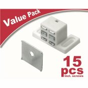 EVERBILT HIGH RISE MAGNETIC CATCH, WHITE (15-PACK)