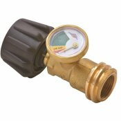 FLAME KING PROPANE GAS METER GAUGE LEVEL INDICATOR WITH GLOW-IN-THE-DARK DIAL