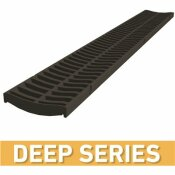 U.S. TRENCH DRAIN DEEP SERIES BLACK REPLACEMENT GRATE TO SUIT 5.4 IN. W X 5.4 IN. D X 39.4 IN. L TRENCH AND CHANNEL DRAIN - U.S. TRENCH DRAIN PART #: 83320
