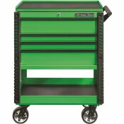 EXTREME TOOLS PROFESSIONAL 33 IN. DELUXE 4-DRAWER UTILITY TOOL CART WITH BUMPERS IN GREEN