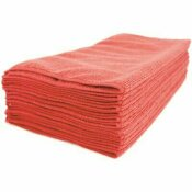 RENOWN 16 IN. X 16 IN. PREMIUM MICROFIBER CLOTH IN RED (12-PACK)