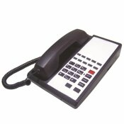 LODGING STAR GUESTROOM PHONE HTP SERIES CORDED, WITH SPEAKER AND 10 MEMORY, BLACK