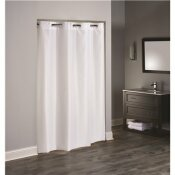 HOOKLESS 36 IN. X 74 IN. 3 IN 1 TPU COATED WHITE SHOWER CURTAIN STALL SIZE (CASE OF 12)