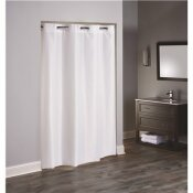 HOOKLESS 48 IN. X 74 IN. 3 IN 1 TPU COATED WHITE SHOWER CURTAIN STALL SIZE (CASE OF 12)