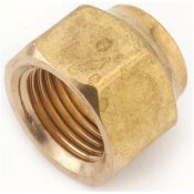 ANDERSON METALS 1/4 IN. BRASS FLARE NUT FORGED (10-BAG)