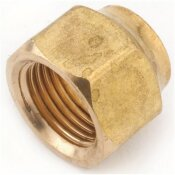 ANDERSON METALS 1/2 IN. BRASS FLARE NUT FORGED (10-BAG)