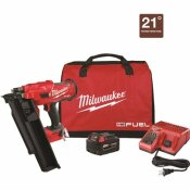 MILWAUKEE M18 FUEL 3-1/2 IN. 18-VOLT 21 DEGREE LITHIUM-ION BRUSHLESS CORDLESS FRAMING NAILER KIT WITH 5.0 AH BATTERY, CHARGER, BAG