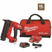 M18 FUEL GEN II 18-VOLT 18-GAUGE LITHIUM-ION BRUSHLESS CORDLESS BRAD NAILER KIT WITH ONE 2.0 AH BATTERY, CHARGER AND BAG - MILWAUKEE PART #: 2746-21CT