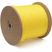 KINGCORD 1/4 IN. X 1,200 FT. POLYPROPYLENE TWISTED ROPE 3-STRAND, YELLOW
