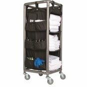 HOSPITALITY 1 SOURCE XDUTY XPRESS HOUSEKEEPING CART POWDER COATED STEEL