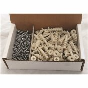 200-PIECES #8 NYLON EZ WALL ANCHORS WITH SCREWS (100 EACH PER PACK)