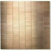 DIP DESIGN IS PERSONAL DIP COPPER BRONZE 12 IN. X 12 IN. SELF-ADHESIVE PVC ALUMINUM TILE BACKSPLASH (10 PACK)
