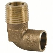 NIBCO 1/2 IN. FORGED BRONZE 90-DEGREE C X M ELBOW