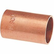 NIBCO 3/4 IN. WROT COPPER CUP X CUP COUPLING WITHOUT STOP FITTING (50-PACK)