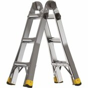 GORILLA LADDERS 14 FT. REACH MPXA ALUMINUM MULTI-POSITION LADDER WITH 300 LBS. LOAD CAPACITY TYPE IA DUTY RATING