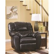 FLASH FURNITURE DYLAN ONYX LEATHER/FAUX LEATHER ROCKER RECLINER