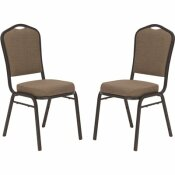NATIONAL PUBLIC SEATING 9300 SERIES NATURAL TAUPE DELUXE FABRIC UPHOLSTERED STACK CHAIR (2-PACK)