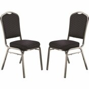 NATIONAL PUBLIC SEATING 9300 SERIES DIAMOND NAVY DELUXE FABRIC UPHOLSTERED STACK CHAIR (2-PACK)