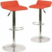 CARNEGY AVENUE 32 IN. RED BAR STOOL (SET OF 2)
