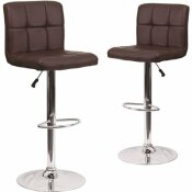 CARNEGY AVENUE 34 IN. BROWN BAR STOOL (SET OF 2)