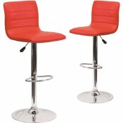 CARNEGY AVENUE 33 IN. RED BAR STOOL (SET OF 2)