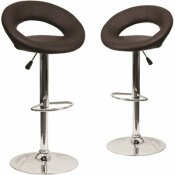 CARNEGY AVENUE 32.75 IN. BROWN BAR STOOL (SET OF 2)