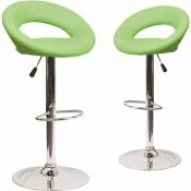 CARNEGY AVENUE 32.75 IN. GREEN BAR STOOL (SET OF 2)