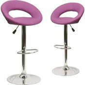 CARNEGY AVENUE 32.75 IN. PURPLE BAR STOOL (SET OF 2)