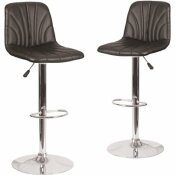 CARNEGY AVENUE 33.25 IN. BLACK BAR STOOL (SET OF 2)