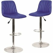 CARNEGY AVENUE 33.25 IN. BLUE BAR STOOL (SET OF 2)