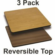 CARNEGY AVENUE NATURAL/WALNUT TABLE TOP (SET OF 3)