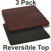 CARNEGY AVENUE BLACK/MAHOGANY TABLE TOP (SET OF 3)