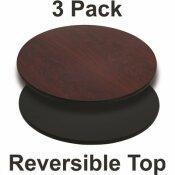 CARNEGY AVENUE MAHOGANY TABLE TOP (SET OF 3)
