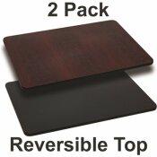 CARNEGY AVENUE BLACK/MAHOGANY TABLE TOP (SET OF 2)