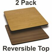 CARNEGY AVENUE NATURAL/WALNUT TABLE TOP (SET OF 2)