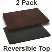 CARNEGY AVENUE BLACK/MAHOGANY TABLE TOP (SET OF 2)