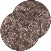 CARNEGY AVENUE GRAY MARBLE TABLE TOP (SET OF 2)