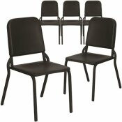 CARNEGY AVENUE BLACK MUSIC STACK CHAIRS (SET OF 5)