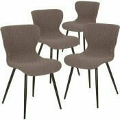 CARNEGY AVENUE GRAY FABRIC FABRIC PARTY CHAIRS (SET OF 4)