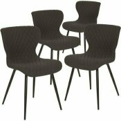 CARNEGY AVENUE BLACK FABRIC FABRIC PARTY CHAIRS (SET OF 4)