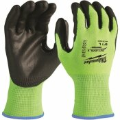 MILWAUKEE SMALL HIGH VISIBILITY LEVEL 2 CUT RESISTANT POLYURETHANE DIPPED WORK GLOVES (12-PACK)