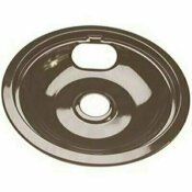 NOT FOR SALE - 312122525 - NOT FOR SALE - 312122525 - PORCELAIN-COATED DRIP PAN FOR WHIRLPOOL ELECTRIC RANGES IN BLACK, 8 IN. - NATIONAL BRAND ALTERNATIVE PART #: 560735