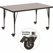 CARNEGY AVENUE GRAY KIDS TABLE