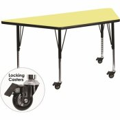 CARNEGY AVENUE 25.37 IN. YELLOW KIDS TABLE