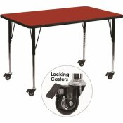 CARNEGY AVENUE 30.37 IN. RED KIDS TABLE